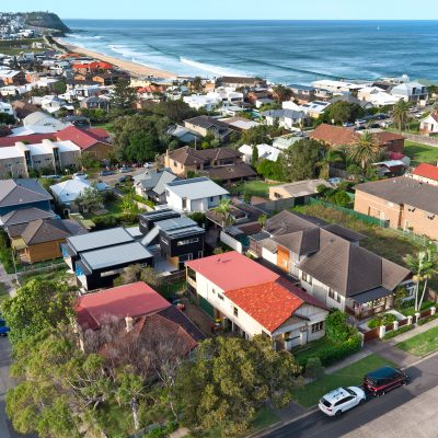 Aerial photography at Merewether, Newcastle, NSW