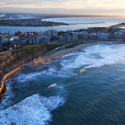 Newcastle coastline at dawn